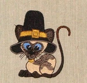 Meezer cat embroidery