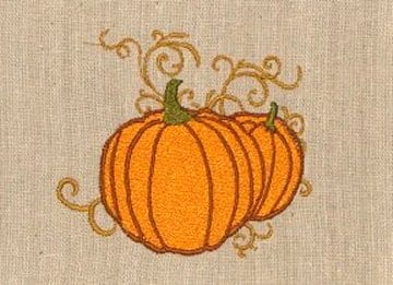 Beautiful pumpkins embroidery design