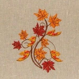 beautiful Autumn Leaves Machine Embroidery Design