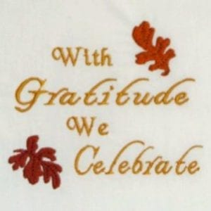 Thanksgiving grateful Embroidery Design
