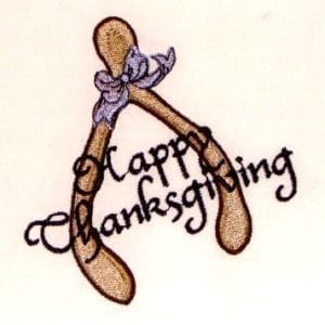 Thanksgiving wishes Embroidery Design