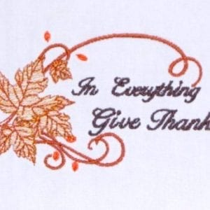 Thanksgiving gratitude Embroidery Design