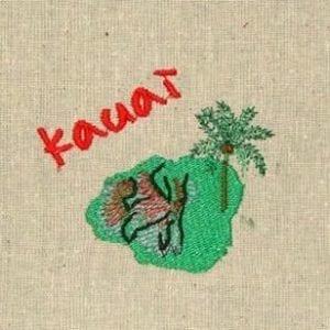 Island kauai embroidery