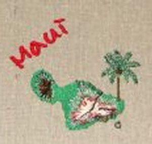 Island Maui embroidery