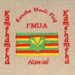 Flag of King Kamehameha I Machine Embroidery