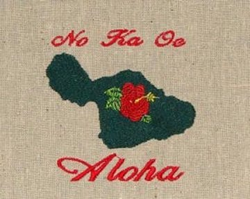 anthem of Maui embroidery