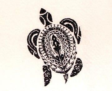 sculpture of island Sea Turtle embroidery