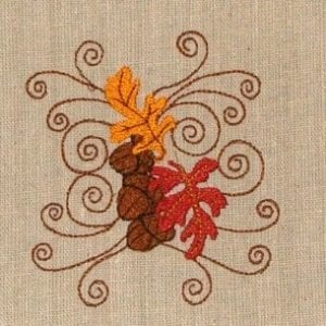 Amazing Autumn Leaves embroidery design