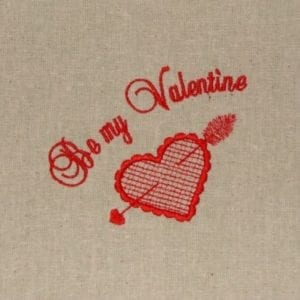 be my valentines embroidery design
