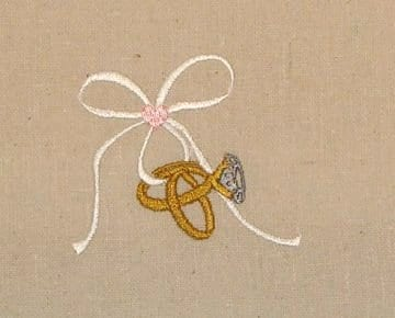 Wedding Rings Machine Embroidery