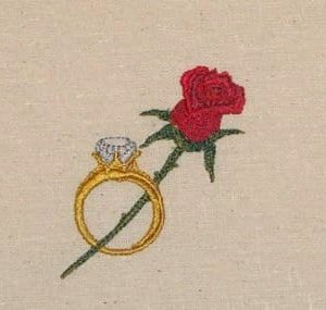 Ring & rose Machine Embroidery