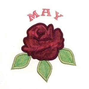 May Flowers embroidery applique