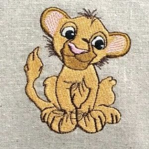 cute Baby Lion Machine Embroidery Design