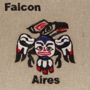 falcon Aires embroidery design
