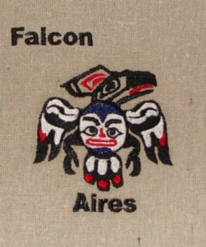falcon Aires embroidery design