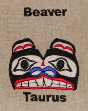 Beaver Taurus embroidery design