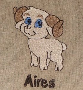 Aires sheep embroidery design
