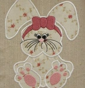 Applique bunny embroidery
