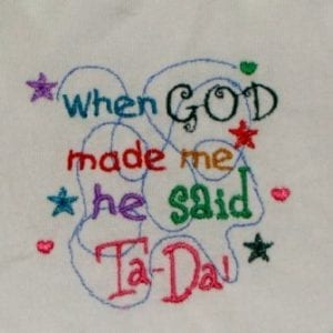 Babies and Kids words and sayings Machine Embroidery