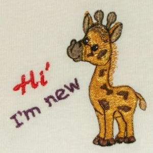 cute baby giraffe Machine Embroidery