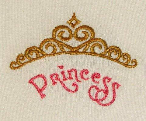 princess crown Machine Embroidery