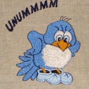 Mamma Bluebird embroidery design