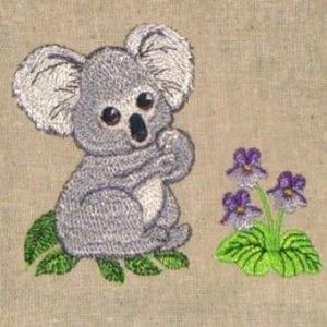 baby koala embroidery