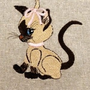cute cat Machine Embroidery design