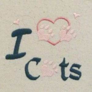 i love cat Machine Embroidery design