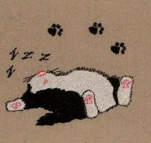 Cats sleeping Machine Embroidery design