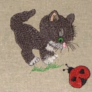 best cat embroidery design