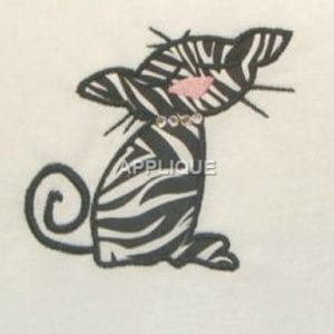 amazing cat embroidery pattern