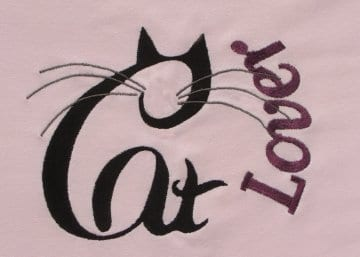 cat lover Machine Embroidery