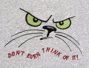angry Cats Meow Machine Embroidery