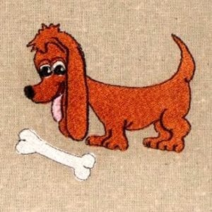 Little Dachshund pup Machine Embroidery design