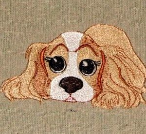 Sweet little spaniel embroidery