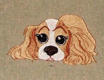 Sweet little spaniel embroidery