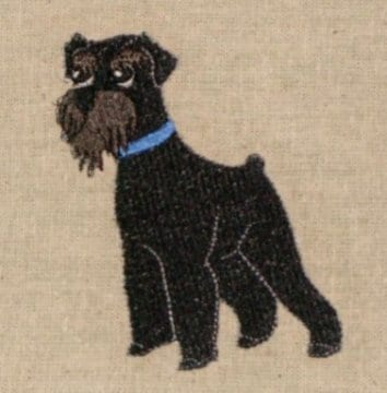 Little Schnauzer embroidery design