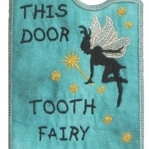 Door Hanger tooth fairy embroidery designs