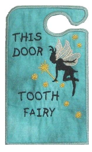 Door Hanger tooth fairy embroidery designs