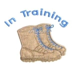 Boots Machine Embroidery
