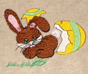 Cute easter baby bunny machine embroidery design