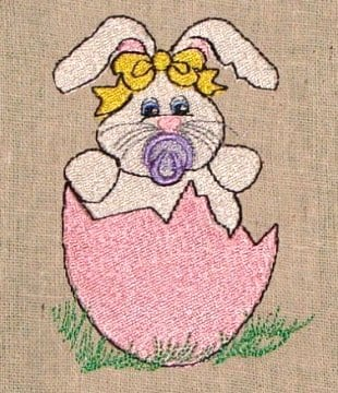 Easter Baby Bunny Machine Embroidery