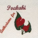Machine Embroidery Hawaiian Day Name Poakahi