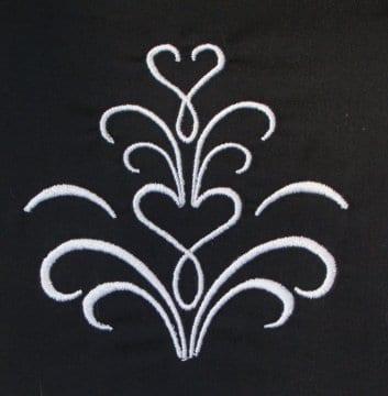 Heart pattern Machine Embroidery