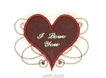 unique machine embroidery heart designs