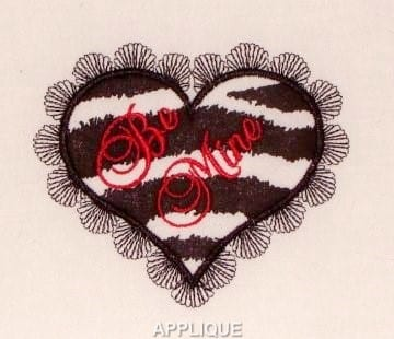 Beautiful Applique heart embroidery design