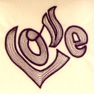amazing love embroidery pattern
