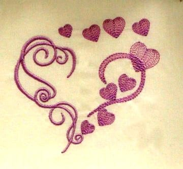 best heart embroidery design