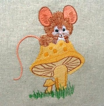 outdoor Mouse Machine Embroidery